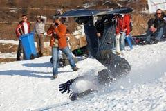 весьма сноубординг падения Стоковые Фото