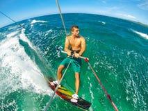 Весьма спорт, Kiteboarding Стоковое Фото
