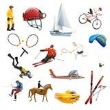 Весьма установленные значки спорта Иллюстрация штока