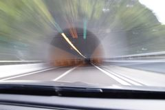 Весьма defocused и неясное изображение тоннеля Стоковые Фотографии RF