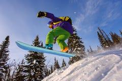 весьма snowboarder Стоковые Изображения