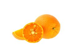 Весь апельсин и одн Стоковое фото RF