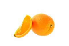 Весь апельсин и одн Стоковое Изображение