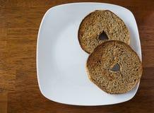 Весь бейгл пшеницы Стоковая Фотография
