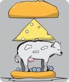 Весь бургер коровы Стоковая Фотография RF