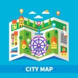 весь город изменения предпосылки красит легкие слои архива элементов карта безшовная выбирает отделенный вектор swatches навигато Стоковые Фото