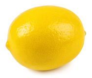 Весь изолированный лимон Стоковое Фото