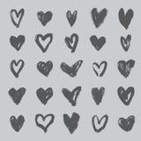 весь индивидуал сердец элементов дня собрания знамен больше моих предметов варианты угождают профилирует к valentines взгляд иллюстрация вектора