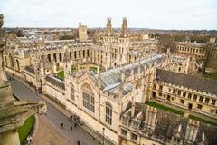 Весь коллеж душ в университете  Оксфорда Англия oxford Стоковое Изображение RF