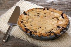 Весь пирог Blurberry Стоковое Фото