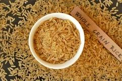 Весь рис зерна в шаре Стоковые Фото