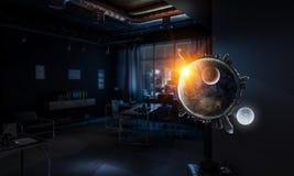Весь свет в руке Мультимедиа Стоковое Изображение RF