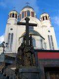 весь собор называет saints России стоковая фотография rf