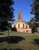 Весь собор Святых, Дерби, Англия. стоковые изображения rf