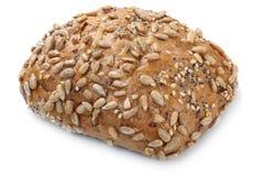 Весь хлеб крена зерен для изолированного завтрака Стоковые Изображения RF