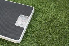 Веся масштаб на зеленой траве Стоковое Изображение RF