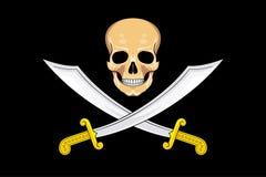 Весёлий Роджер флага пирата Стоковое Изображение