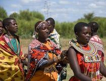 весёлые песни masai Стоковая Фотография RF