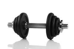 Вес гантели изолированный на белом объекте спортзала спорта предпосылки Стоковое Изображение RF
