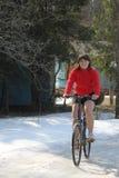 вес девушки велосипеда сверхнормальный Стоковые Изображения