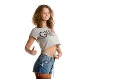 Вес женщины потерянный Стоковые Фотографии RF