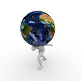 Вес мира иллюстрация вектора