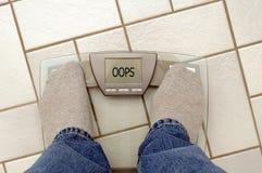 вес проблем Стоковая Фотография