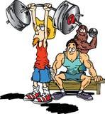 вес lifter ковбоя Иллюстрация штока