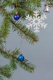 Ветви ели с орнаментом рождества Стоковое Фото