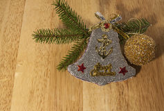 Ветви дерева орнамента и спруса рождества Стоковое Изображение