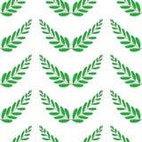 Ветви оливок, символа победы, иллюстрации вектора, плоско картина безшовная иллюстрация вектора
