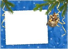 ветви предпосылки голубые обрамляют тесемки Стоковое фото RF