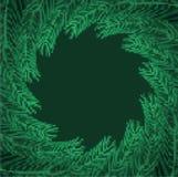 Ветви рождественской елки обрамляют искусство пиксела Ветвь предпосылки Xmas бесплатная иллюстрация