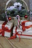 Ветви рождества конуса сосны Стоковые Фото