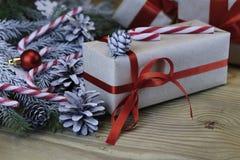 Ветви рождества конуса сосны Стоковые Изображения RF