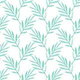 Ветвь ладони листья делают по образцу безшовное рука нарисованная предпосылкой также вектор иллюстрации притяжки corel Стоковые Фотографии RF
