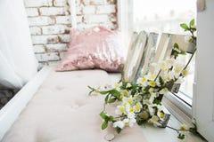 Ветвь белых цветков Стоковое фото RF