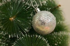 Ветвь ели рождества праздничная с белыми концами Стоковая Фотография