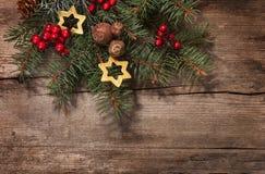 Ветвь ели с украшением рождества Стоковое Изображение RF
