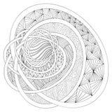 ветвь красит декоративным орнамент заполненный чертежом Zentangle Стоковые Изображения RF