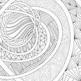 ветвь красит декоративным орнамент заполненный чертежом Zentangle Стоковые Изображения