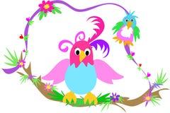 ветвь птиц отбрасывая 2 Стоковое Изображение