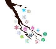 Ветвь снега вектора иллюстрация штока