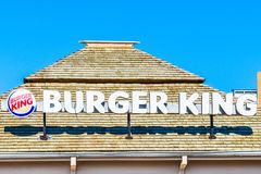 Ветвь франшизы Negril Ямайки американской цепи фаст-фуда Burger King, любимого ресторана фаст-фуда среди Jamaicans стоковое изображение