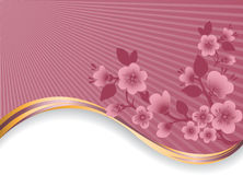 ветвь цветя золотистая волна бесплатная иллюстрация