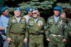 Ветераны воздушного десанта России стоковые фотографии rf