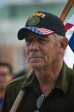 Ветеран армии на протесте козыря стоковое изображение