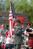 Ветеран Корейской войны маршируя в 4-ый из jully парада Стоковые Фотографии RF