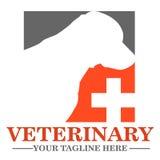 Ветеринарный логотип клиники Стоковое Изображение