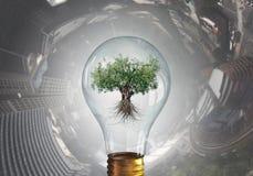 ветер альтернативной иллюстрации энергии принципиальной схемы предпосылки цифровой солнечный стоковое изображение